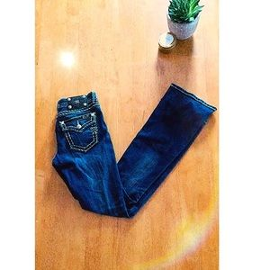 Miss Me Bootcut Saddle-stitch Jeans